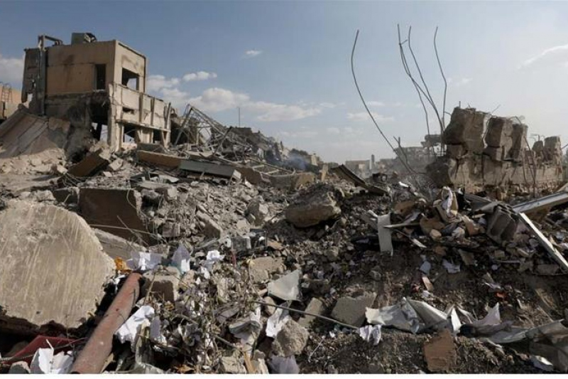 This is the remains of Damascus' Scientific Research Centre following US-led attacks